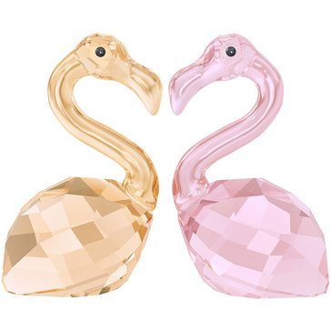 Swarovski Crystal Living 'In Love' Claude and Claudine Flamingos