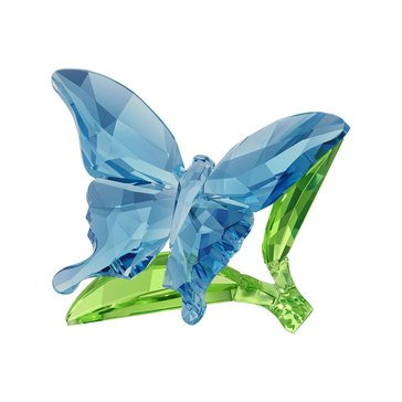 Swarovski Crystal Living Butterfly On Leaves
