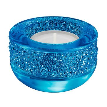 Swarovski Crystal Living Capri Blue Shimmer Tea Light