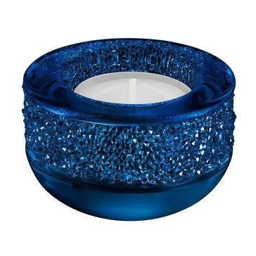Swarovski Crystal Living Shimmer Tea Light, Dark Blue