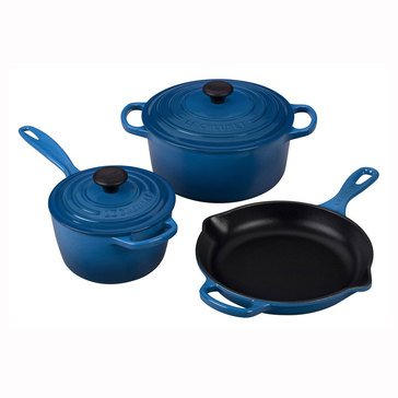 Le Creuset 5-Piece Cast Iron Signature Set, Marseille Blue