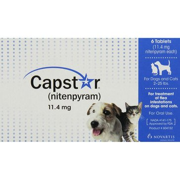Capstar Flea Tablets for Dogs And Cats 2-25 lbs., 6 Count