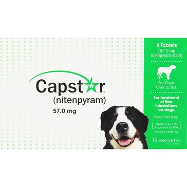 Capstar Flea Tablets for Dogs And Cats Over 25 lbs., 6 Count