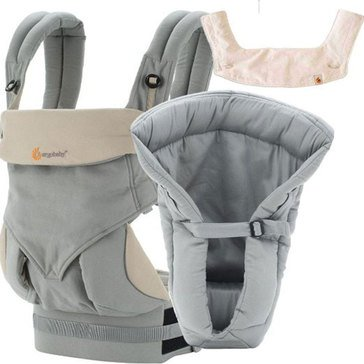 Ergobaby Four Position 360 Bundle of Joy Baby Carrier, Grey