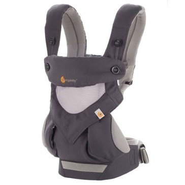 Ergobaby Cool Air 4-Position 360 Baby Carrier, Carbon Grey