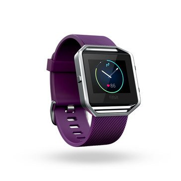 Fitbit Blaze Smart Fitness Watch - Plum - Large