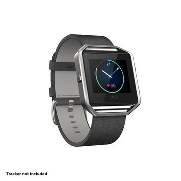 Fitbit Blaze Classic Leather Band - Black - Small