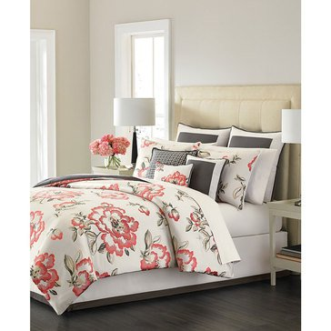 Martha Stewart Collection Peony Blossom 9-Piece Comforter Set - Queen