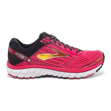 Brooks Ghost 9 Women's Running Shoe Azalea/ Black/ Cyber Yellow