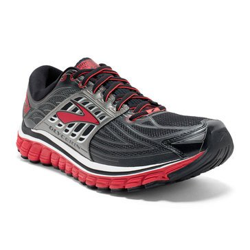 Brooks Glycerin Men's Running Shoe 14 Black/ High Risk Red/ Anthracite