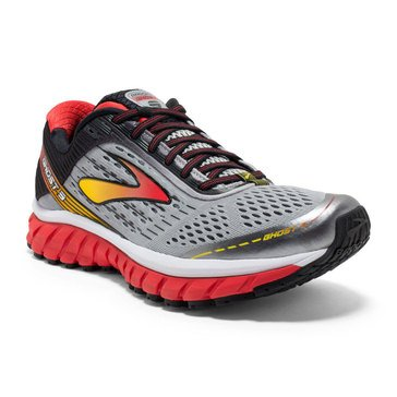 Brooks Ghost 9 Men's Running Shoe Alloy/ High Risk Red/ Black