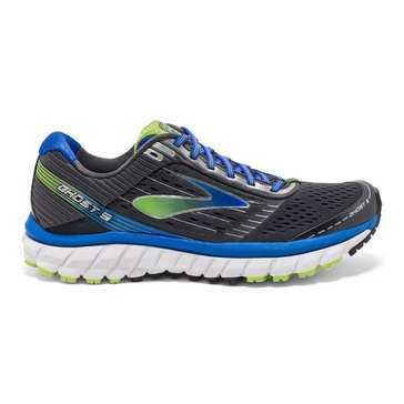 Brooks Ghost 9 Men's Running Shoe Anthracite/ Electric Brooks Blue/ Lime Punch