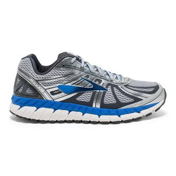 Brooks Beast 16 Men's Running Shoe Silver/ Electric Brooks Blue/ Ebony