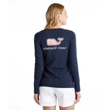 Vineyard Vines Long Sleeve Logo Tee Navy