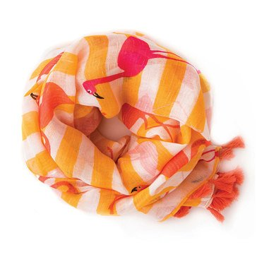 Spartina 449 Flamingos & Stripes Scarf