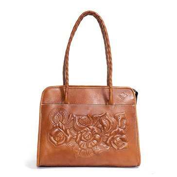 Patricia Nash Large Paris Satchel Tooled Rose Florence