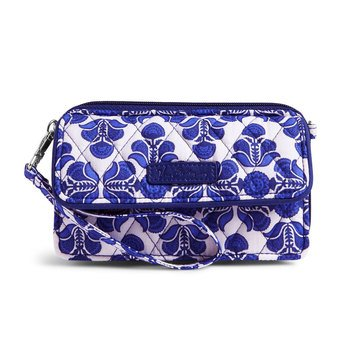 Vera Bradley All In One Crossbody for the Iphone +6 Cobalt Tile