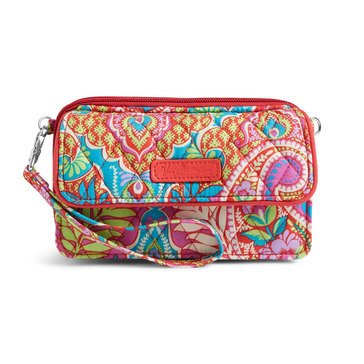 Vera Bradley All In One Crossbody for the Iphone +6 Paisley in Paradise