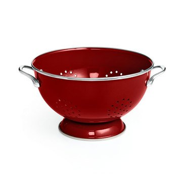 Martha Stewart Collection Colander, Cranberry