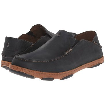 Olukai Moloa Men's Casual Slip On Shoe Black/ Toffee