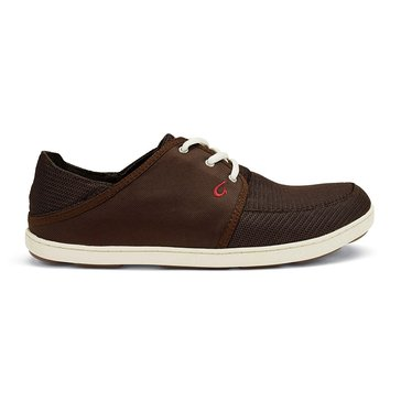 Olukai Nohea Lace Mesh Men's Casual Shoe Dark Java