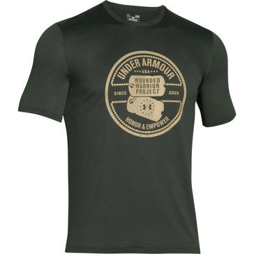 Wounded Warrior Project Men's Dog  Combat Green Short Sleeve Tech Tee