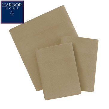 Harbor Home Queen Microfiber Sheet Set, Tan