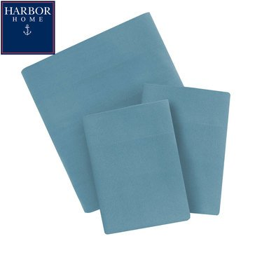 Harbor Home Microfiber Sheet Set, Air Blue - Queen