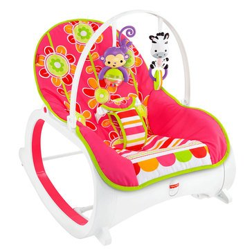 Fisher-Price Infant to Toddler Rocker, Floral Confetti
