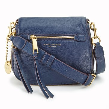 Marc Jacobs Recruit Small Saddle Bag Navy Blue