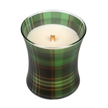 Woodwick Frasier Fir Holiday Plaid Hourglass Candle