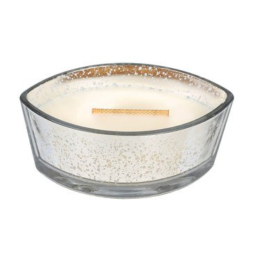 Woodwick Warm Wool Large Silver Mercury Ellipse Candle