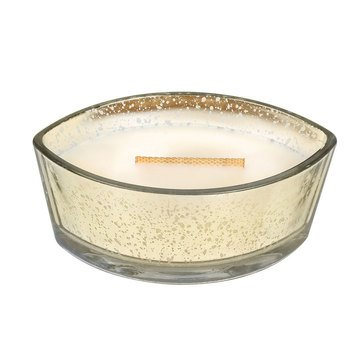 Woodwick Oatmeal Cookie Large Gold Mercury Ellipse Candle