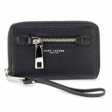 Marc Jacobs Gotham City Zip Phone Wristlet Black