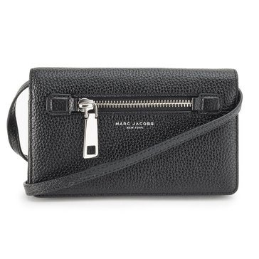 Marc Jacobs Gotham City Wallet Leather Strap Black