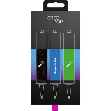 CreoPop Ink 3-Pack - Regular Black, Blue & Green