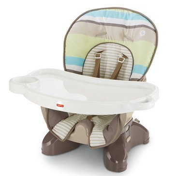 Fisher-Price SpaceSaver High Chair, Green Stripe