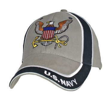 Eagle Crest USN Cap With Grey Stripe