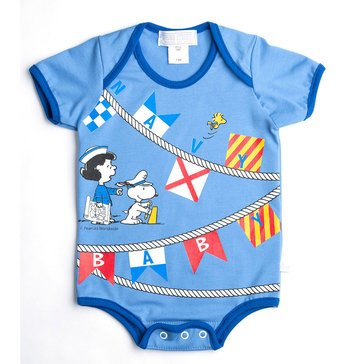 Third Street Sportswear Baby Captain Snoopy & Lucy Diaper Shirt