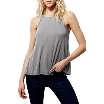 Free People Women's Long Beach Tank Grey