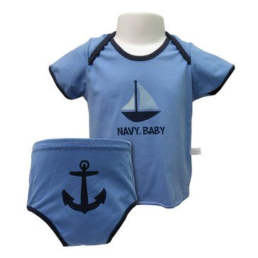 Third Street Sportswear Baby USN Lap Tee & Diaper Cover Set