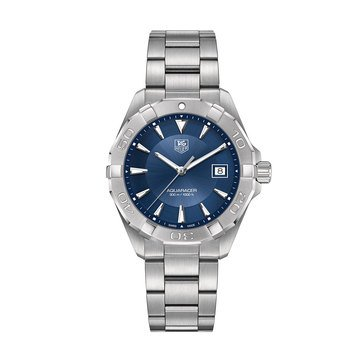 Tag Heuer Men's Aquaracer Blue/Fine Brushed and Polished Steel Watch, 41mm