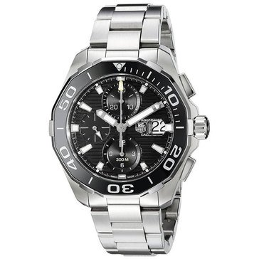 Tag Heuer Men's Aquaracer Calibre 16 Automatic Chronograph Watch CAY211A.BA0927, Black Ceramic/ Fine Brushed Steel 43mm