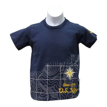 Third Street Sportswear Youth Boys' USN Map Compass Short Sleeve Tee