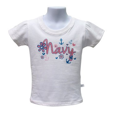 Third Street Sportswear Toddler Girls' USN Floral Ruched Tee