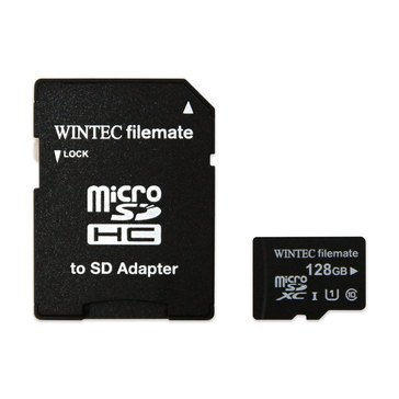 Wintec Filemate Professional Pro 128GB MicroSDXC UHS-I U1 Flash Card w/ Adapter