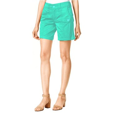 Style & Co Tummy D Ring Short in Pacific Aqua