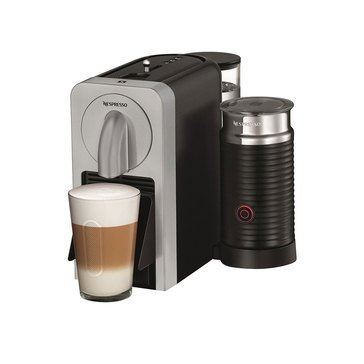 Nespresso Prodigio Espresso Machine with Aeroccino Milk Frother, SIlver (D75-US-SI-NE)