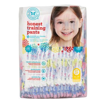 The Honest Company Training Pants, Chambray Floral - Size 3T/4T, 23-Count