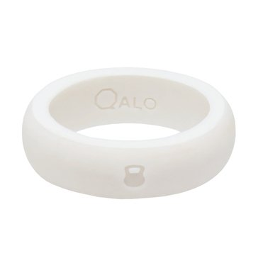 Qalo Silicone White Pink Band
